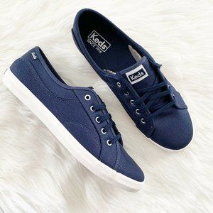 Keds 10 Coursa Metallic Navy Blue Women's Sneakers